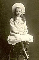 Edwardian Girl - Real Photo Postcard (With love from Maie) c.1912